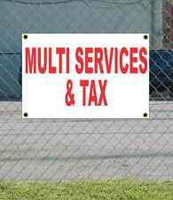 2x3 MULTI SERVICES & TAX Red & White Banner Sign NEW Discount Size & Price