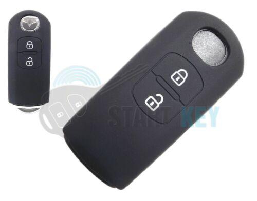MAZDA 2 3 6 cx5 cx3 mx5 Clé Housse en silicone key chiave CLE NOIR