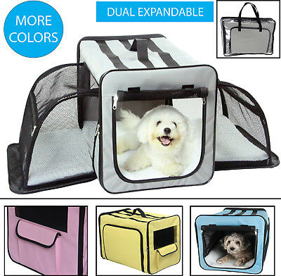 B99 Pet Life Roomeo Folding Collapsible Airline Approved Pet Dog Carrier Crate