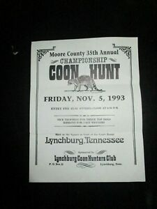Jack-Daniels-Lynchburg-Tenn-Moore-County-Coon-Hunt-Flyer-1993