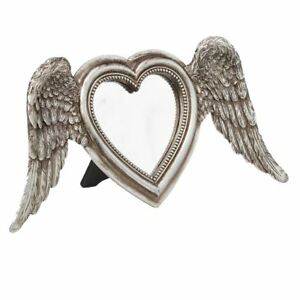 Alchemy-Gothic-Angel-Winged-Heart-Shaped-Gold-Wall-amp-Counter-Mirror-Giftware