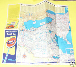 Details about Gulf Oil Ontario/Quebec 1940s Road Map Great map! SEE!