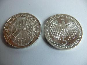 5 Dm Gedenkmünze 1973 Frankfurter Nationalversammlung 1848 Präge G