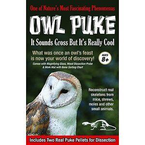 Gross Science ~ REAL OWL PUKE~ Dissection Kit 2 Owl Pellets- Tedco ...