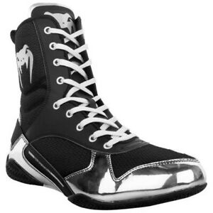 Venum Elite Professional Boxing Shoes Black//Red