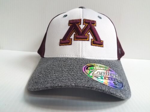 Minnesota Gophers Cap Zephyr Stretch Fit Fitted Mesh League Brim Hat NCAA
