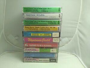 10 Cassette Lot Karaoke Tapes Vintage Accompaniment Country Gospel John Michael