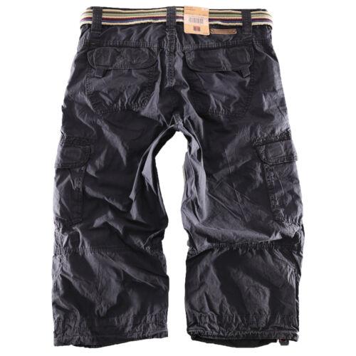 Timezone Men/'s Cargo Shorts Miles Bermuda 3//4 Cargo Shorts Shorts Navy 3570