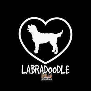 Details About Labradoodle I Love Vinyl Sticker Decal Akc Registered Dog Breed Full Bred