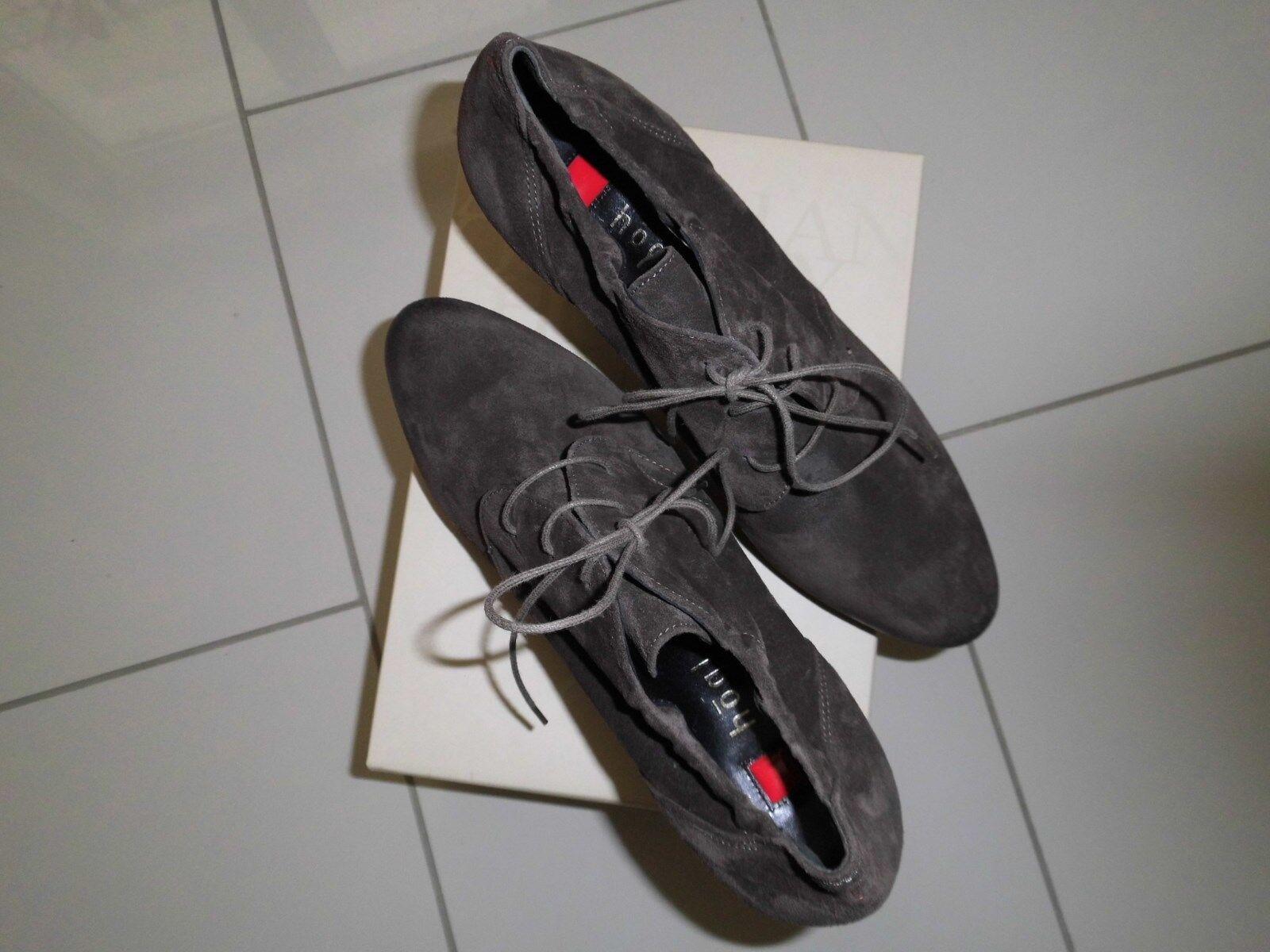 Högl Pumps Ankle Stiefel Highheels Gr40,5 Anthrazit Gr.7 Gr40,5 Highheels 41 Leder NEU 0d9022