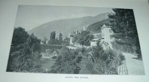 1903-Antique-Print-ALONG-THE-PASSER-RIVER-South-Tyrol-Italy