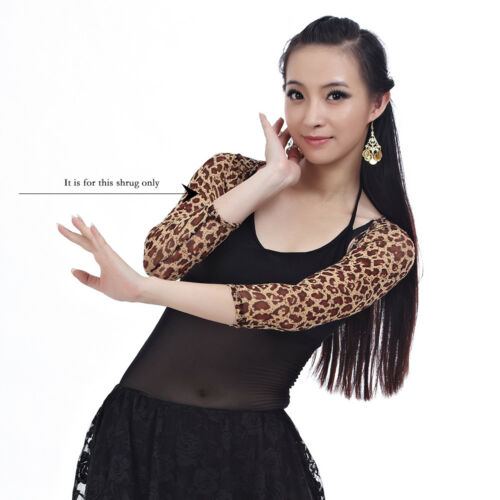 New Women Belly Dance Costume Armbands Shrug Stretch Shrug Bolero Mesh arm Glove
