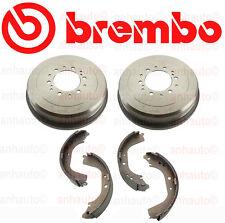 Set 2 Brembo Brake Drums & Brake Shoes for 4Runner Tacoma T100 Tacoma Tundra