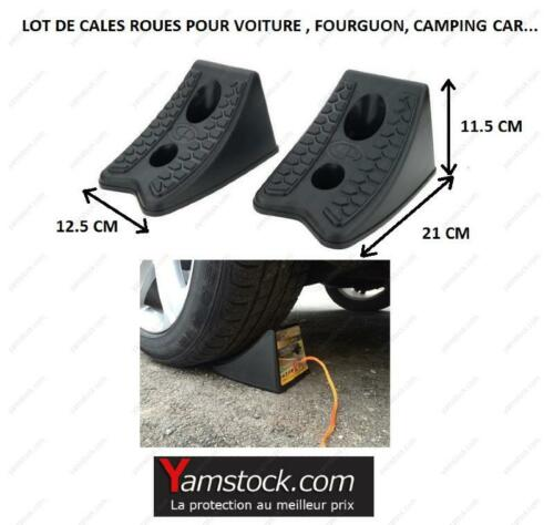 fourgon camping car 2 cales roues pour voiture