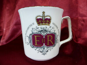 1977-Royal-Grafton-Queen-Elizabeth-II-SILVER-JUBILEE-CHINA-MUG-1-Memorabilia