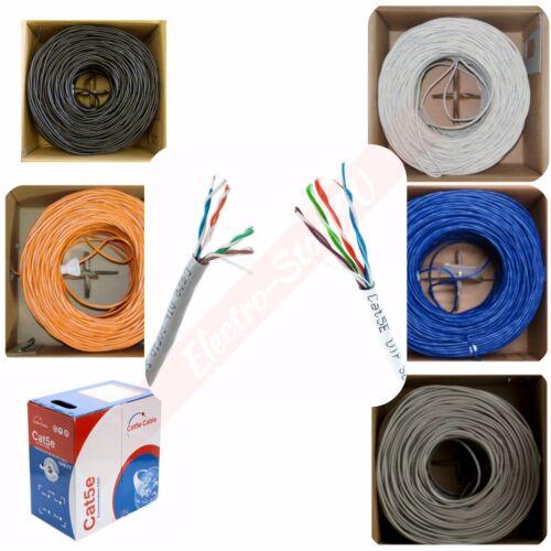 CAT6A 10G  Solid-Bare Copper Bulk Cable BLUE 100,200,300,400FT