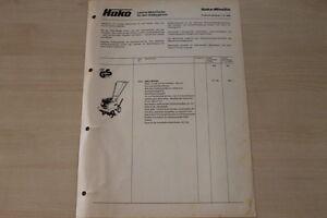 163289) Hako Minette Combinette-prix & Outils-brochure 10/1980-afficher Le Titre D'origine MatéRiaux De Choix