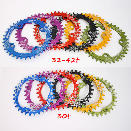 104bcd 170 Crank Sprocket  30-42T Narrow Wide Single Chainring MTB Bike Crankset