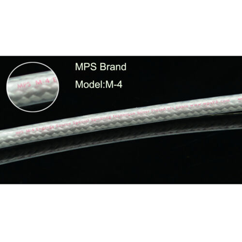 High End MPS M-4 3.5mm to 2 RCA Audio Cable,Sliver Plated 6N OFC HiFi 99.9997/%