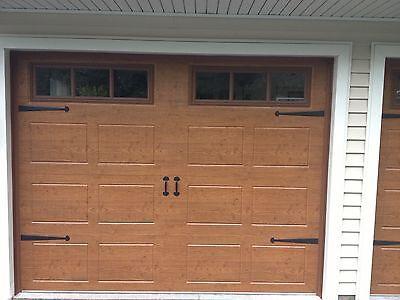 Heavy Iron Garage Door Decorative Hardware Strap Hinges And Handles Bean  Style