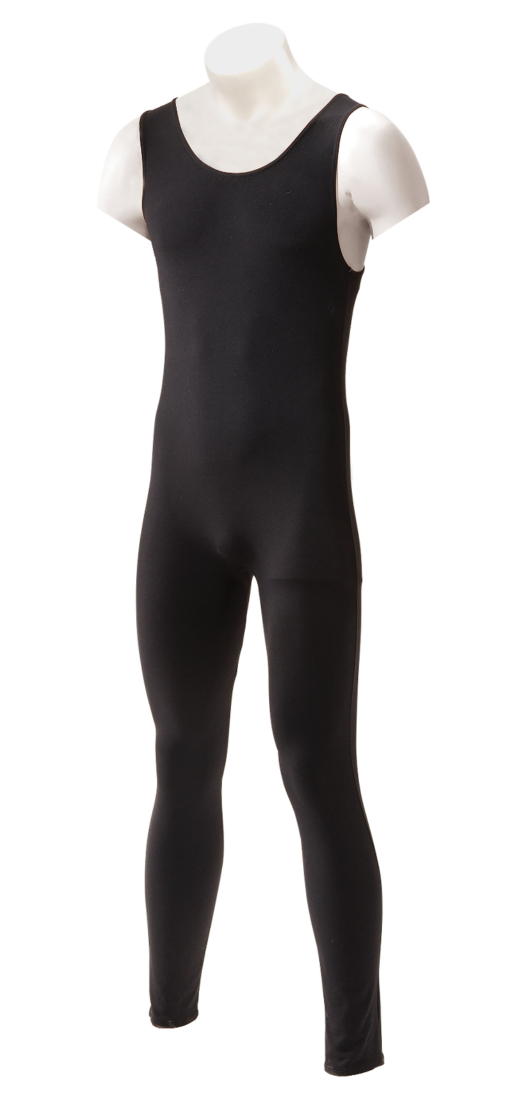 INTERMEZZO Men's and Boy's Dance Tank Style Long Unitard Cotton/Elastane Black