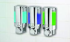 3 x Soap Sanitizer Shampoo Lotion Dispenser 350ml Wall Mounted Bathroom Shower