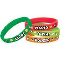 Super Mario Bros Party Wristbands 4ct -new