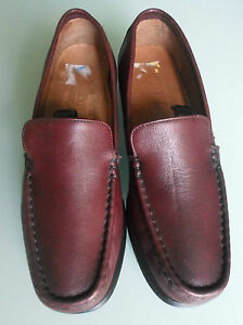 Flexi-Country-Women-Size-4-5-Brown-Leather-Loafers-Shoes