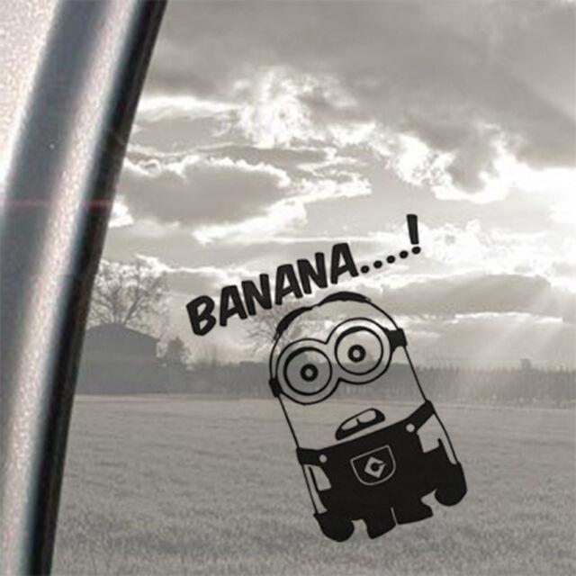 Minion Banana Joke Van Window JDM VW DUB VAG EURO Vinyl Decal Sticker