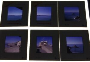Lot-Of-6-Vintage-Color-Slides-60-s-Cliff-House-And-Ocean