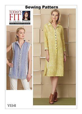 Vogue V1510 Todays Fit Sandra Betzina Pattern Misses Tunic /& Dress All Sizes BN