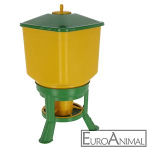 Futterautomat 30kg//40kg Geflügel Hühner Puten Futterspender Futtertrog mit Füßen