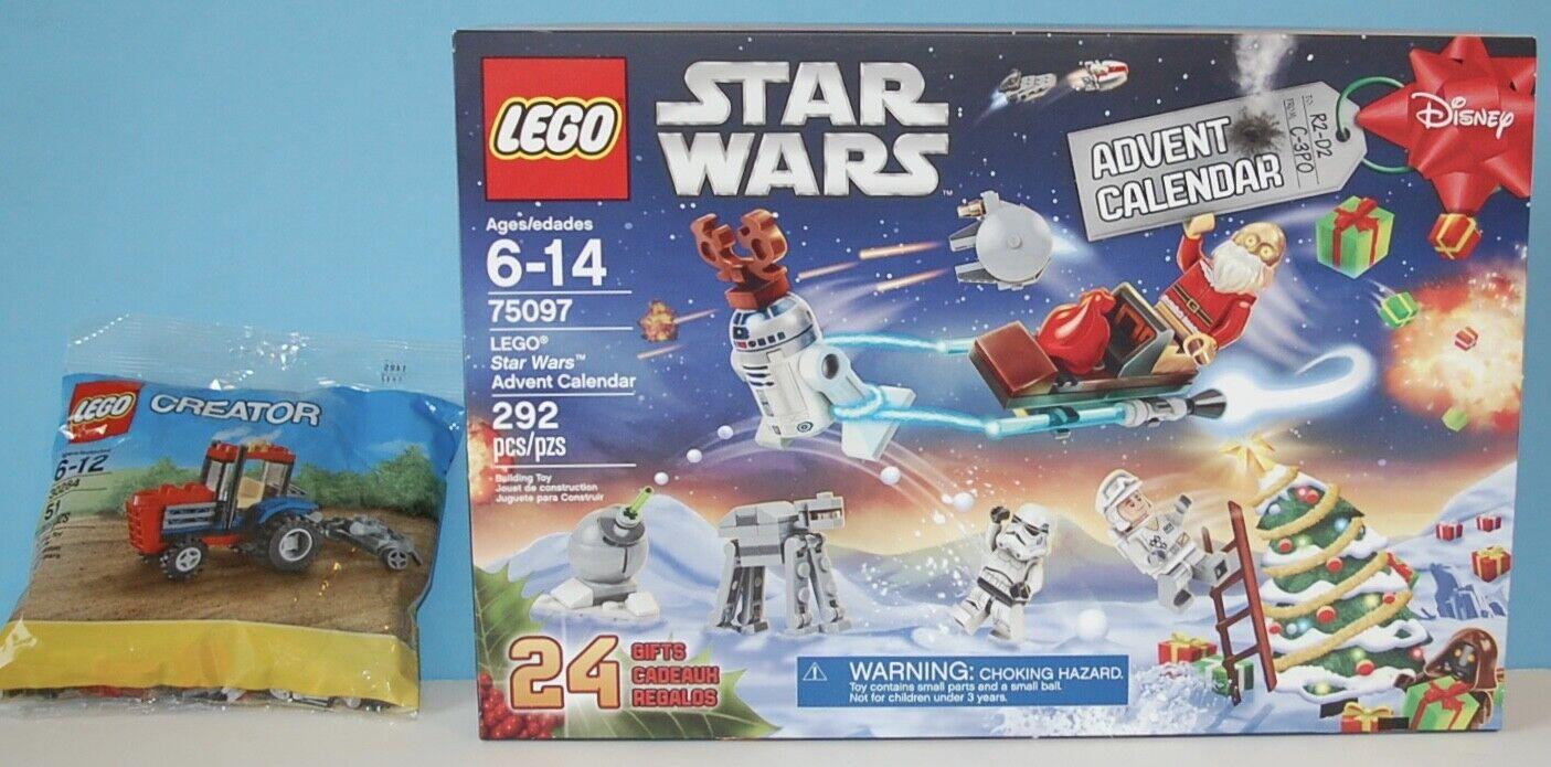 Lego Star Wars Advent Calendar 75097 NIB NIB NIB 2015 + BONUS Tractor 30284 Building Toy b31aaa