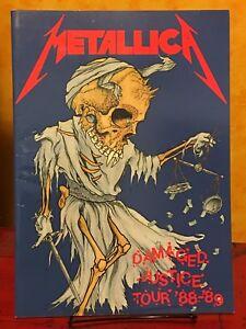 Details about METALLICA - 1988 DAMAGED JUSTICE TOUR CONCERT PROGRAM BOOK