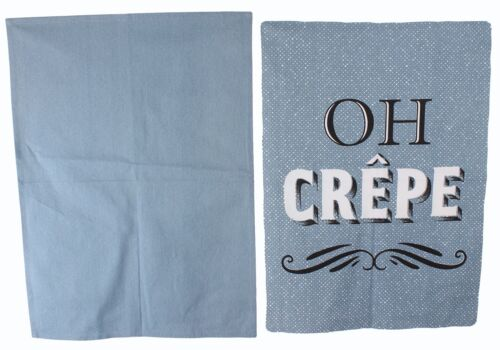 Heart Of The Home Set Of 2 Blue Tea Towels /'Oh Crep/'