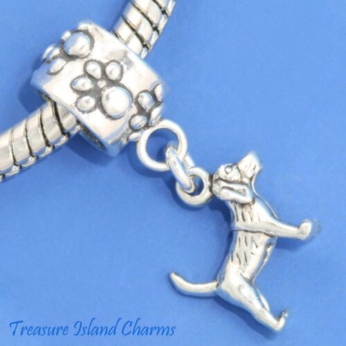 Beagle Dog .925 Solid Sterling Silver European Dangle Bead Charm Euro