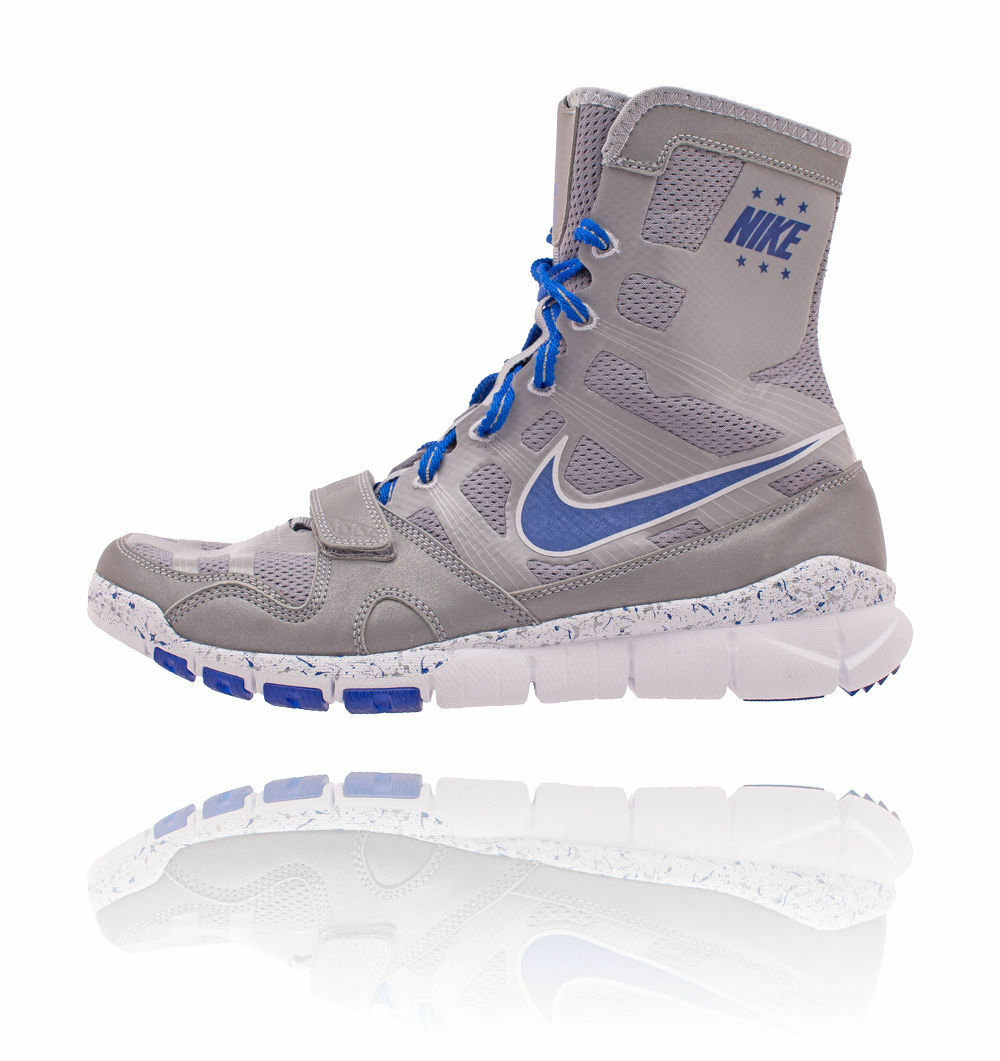 NEW Men's NIKE Free HyperKO Shield Trainer Boxing Shoes Size: 8 Color: Gray