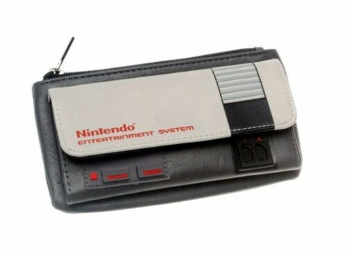 NES Classic Game Controller Zip Top Flip Clutch Wallet