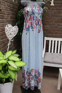 737411388cab42 Das Bild wird geladen Sale-Sommer-Strandkleid-Maxikleid-Blumen-Flower-Kleid- Hippie-