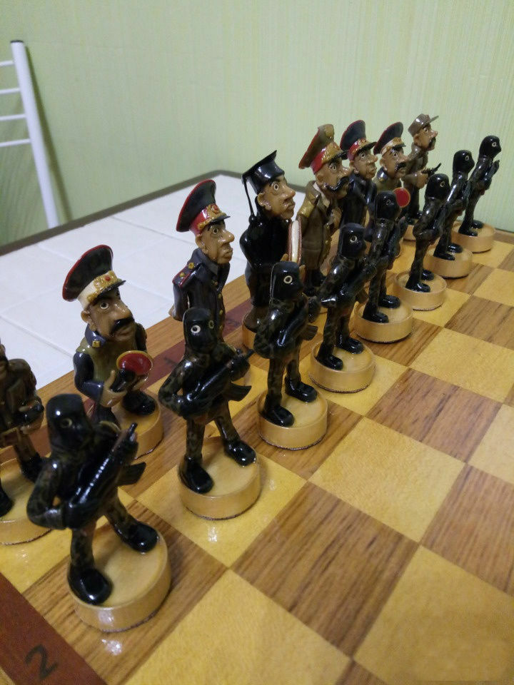 Russian Bread Handmade Chess Set 5 Jailhouse: Guards vs Prisoners