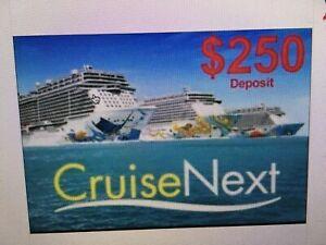 Norwegian (NCL) CruiseNext Credit  Voucher Certificates each  worth $250