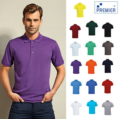 Henbury Contrast Triblend Polo Shirt H490-Casual Collared Short Sleeved T-Shirt