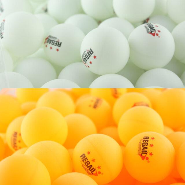3-Star 40mm 30/100pcs White Orange Plastic Table Tennis Ping Pong Balls Training