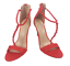 thumbnail 2 - Womens Ladies Red Faux Suede High Heel Party Sandals Shoes Size UK 4 5 6 7 8 New