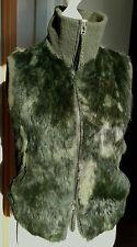 Pelzweste grün N3 MARC CAIN Kaninchen Weste Gr.38 Pelzjacke Pelz Blouson EDEL