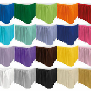 Faldas-de-mesa-14ft-elija-su-color-Plastico-tableskirt-Falda