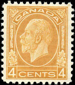 Mint-NH-Canada-1932-VF-Scott-198-4c-King-George-V-Medallion-Stamp