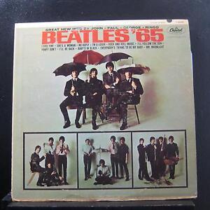The-Beatles-Beatles-039-65-LP-VG-T-2228-Mono-Capitol-Rainbow-RIAA-3-USA-Record