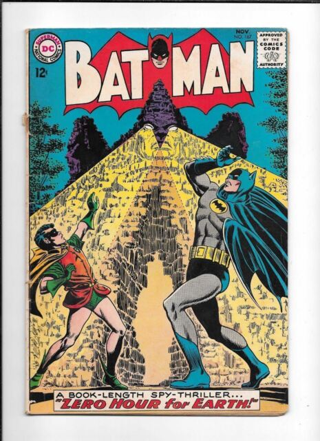 BATMAN #167 ==> VG ZERO HOUR FOR EARTH SPY-THRILLER DC COMICS 1964