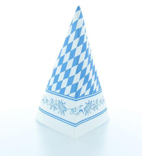 40 x 40 cm Mank Rauten Blau-Weiß 50 Stück Airlaid Serviette Bayern